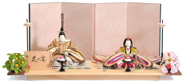 花の宴 (はなのえん) 書目頭 正絹 衣裳着 白松飾台 伝統的工芸品