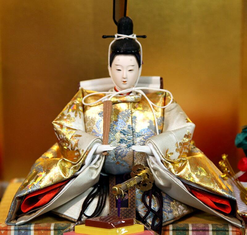 京都雛の会 平安光義作 本金段箔