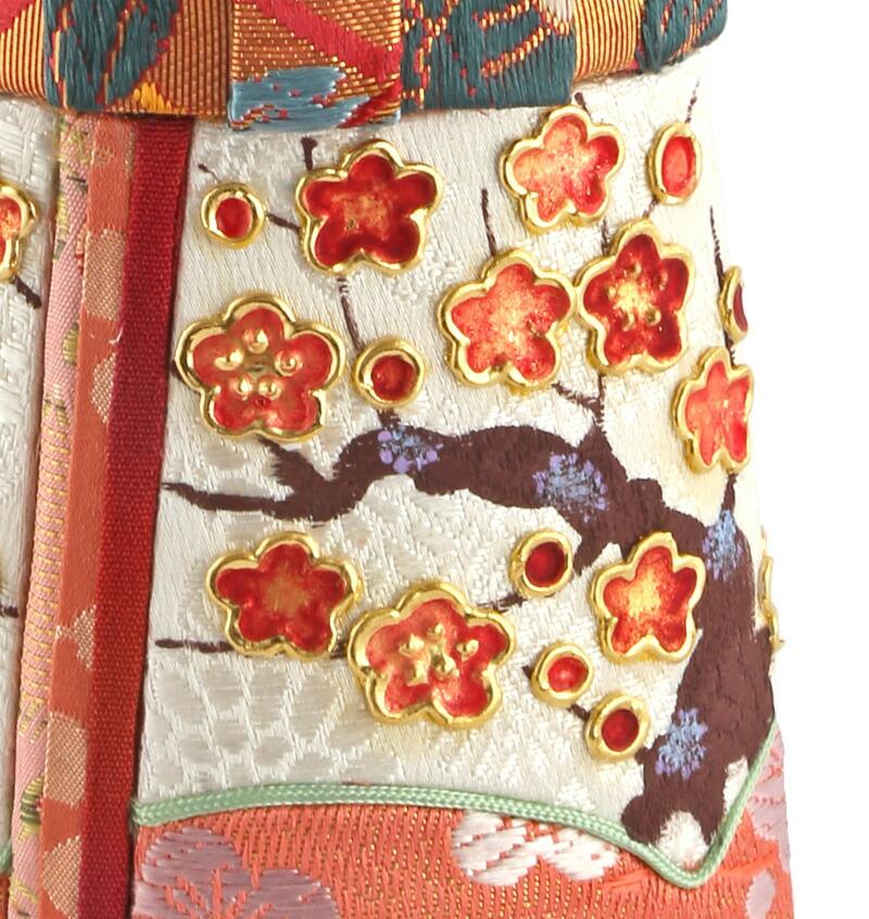 真多呂作 立雛 箔押 正絹 伝統的工芸品 限定品