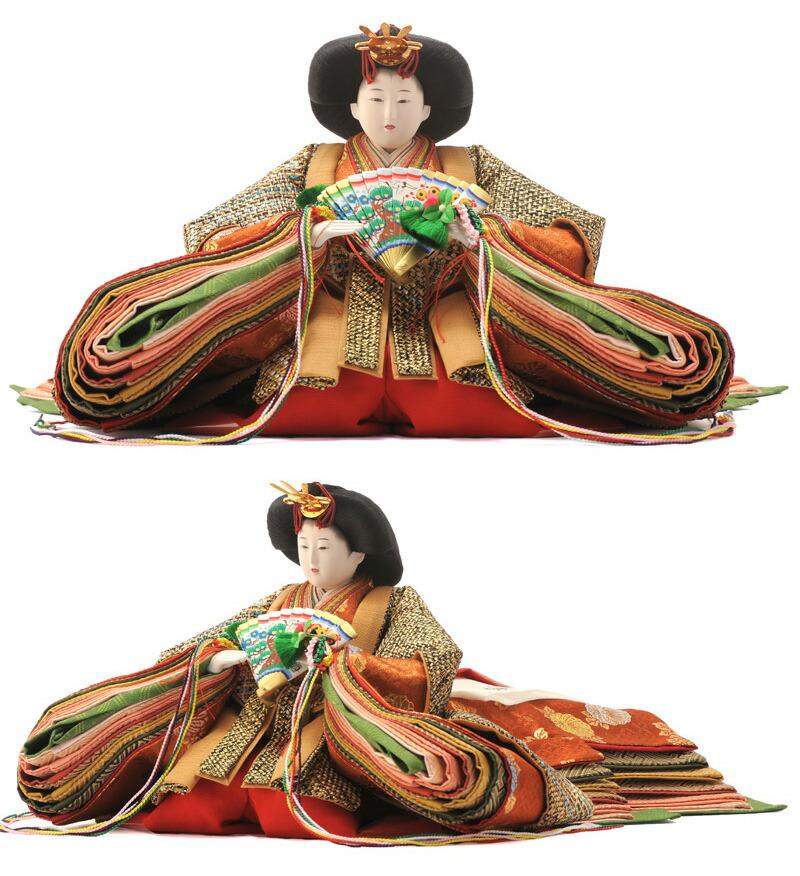 柴田家千代作 古典のお雛様 組織帯地