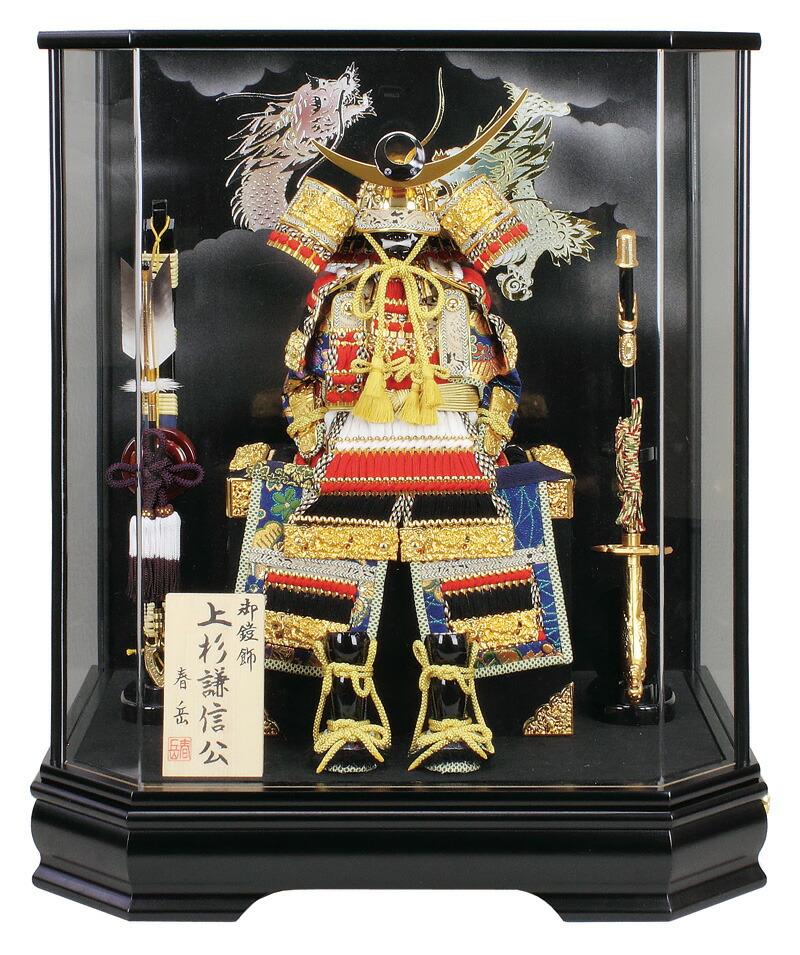 春岳作 大鎧 5号 六角ケース オルゴール付