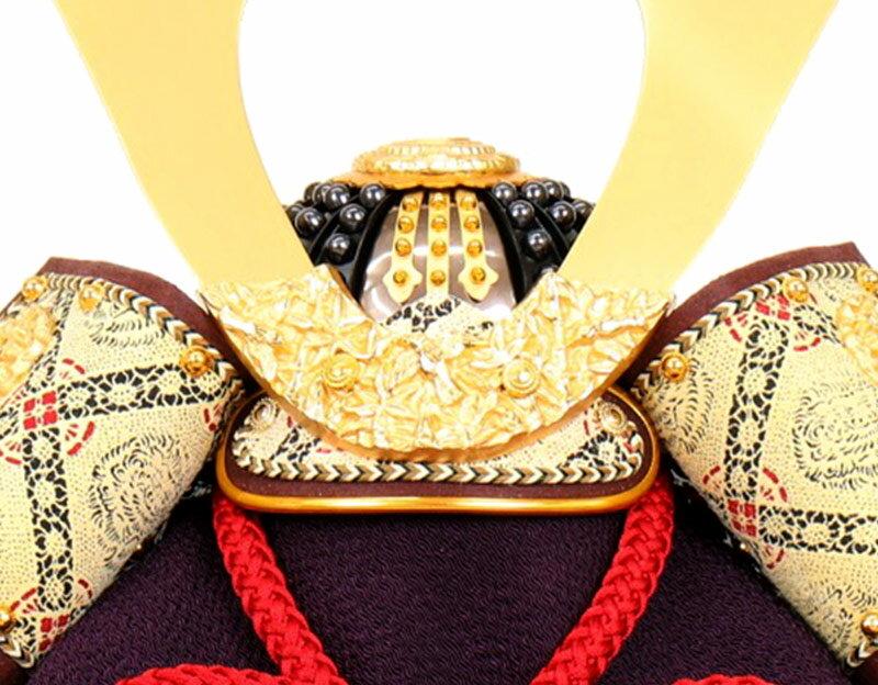 辰広作 竹雀之兜 本小札 正絹 赤糸縅 1/4