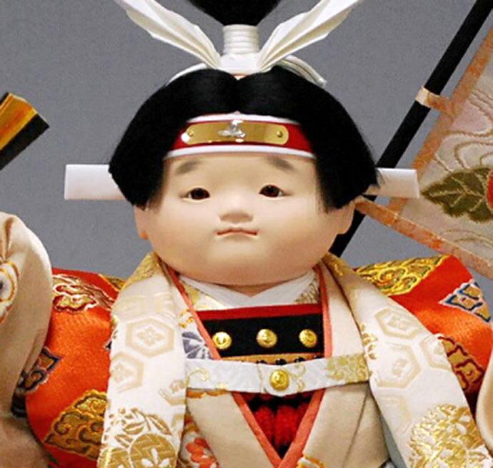 十号 童子 桃太郎 木肌塗カブセケース 日本一旗付