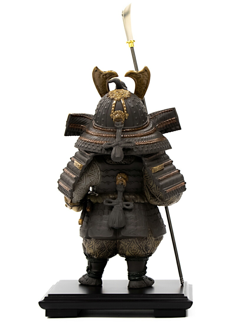 Lladro 磁器人形 若武者 一番槍 台座付