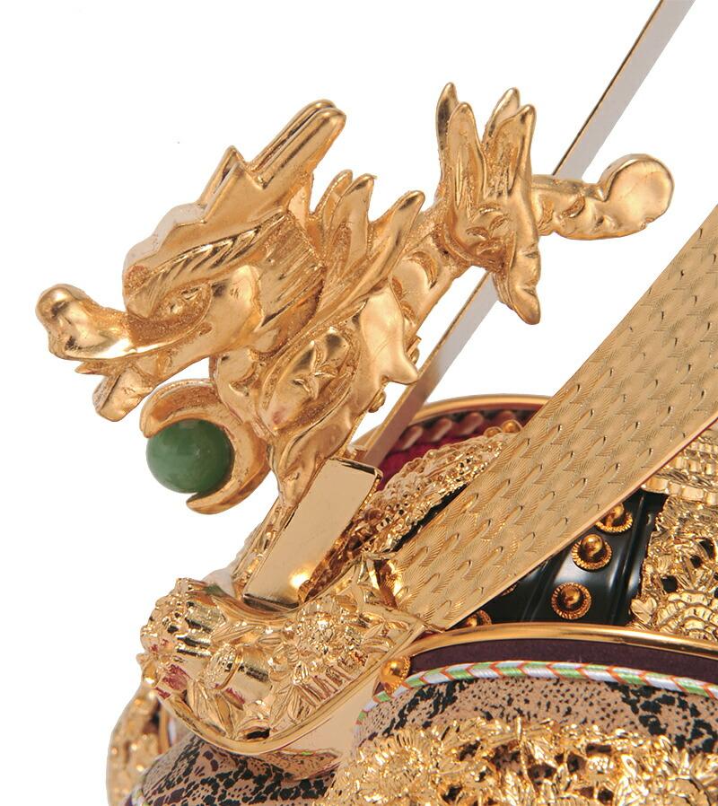 金沢箔 正絹糸縅 純金箔押 本革仕上 本正絹絲威 矧板合わせ鉢 13号