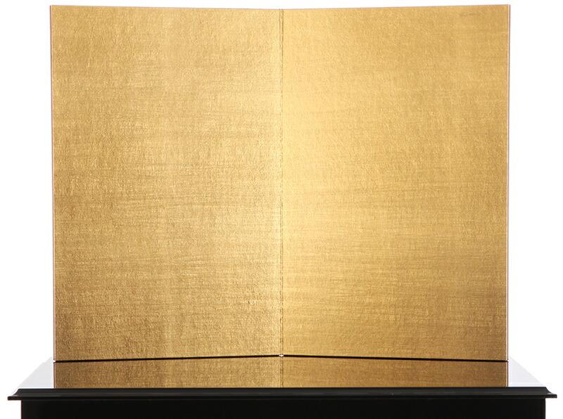 鈴甲子雄山作 仙台市博物館蔵模写 1/3 正絹威 弦月形前立 洋金箔屏風