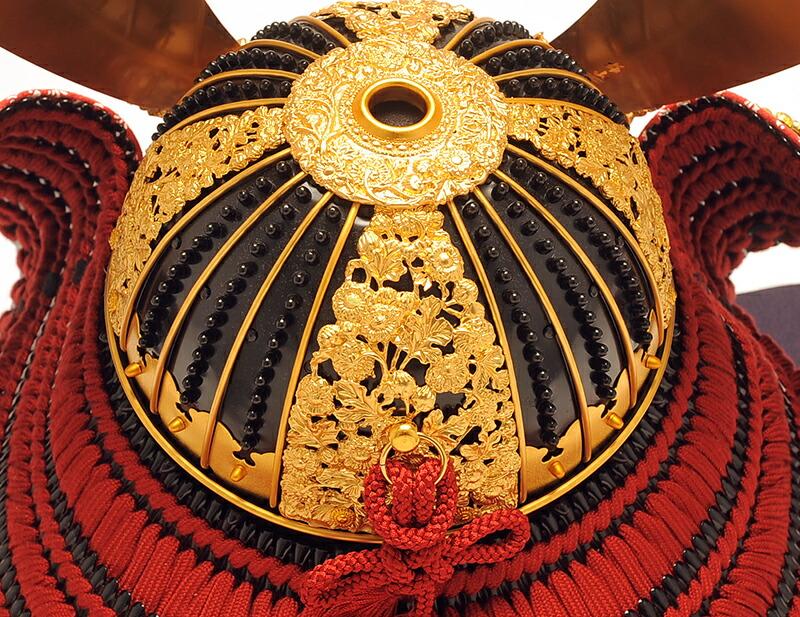 雄山作 菊一文字之兜 南北朝時代 櫛引八幡宮所蔵模写 四方白矧ぎ合わせ鉢
