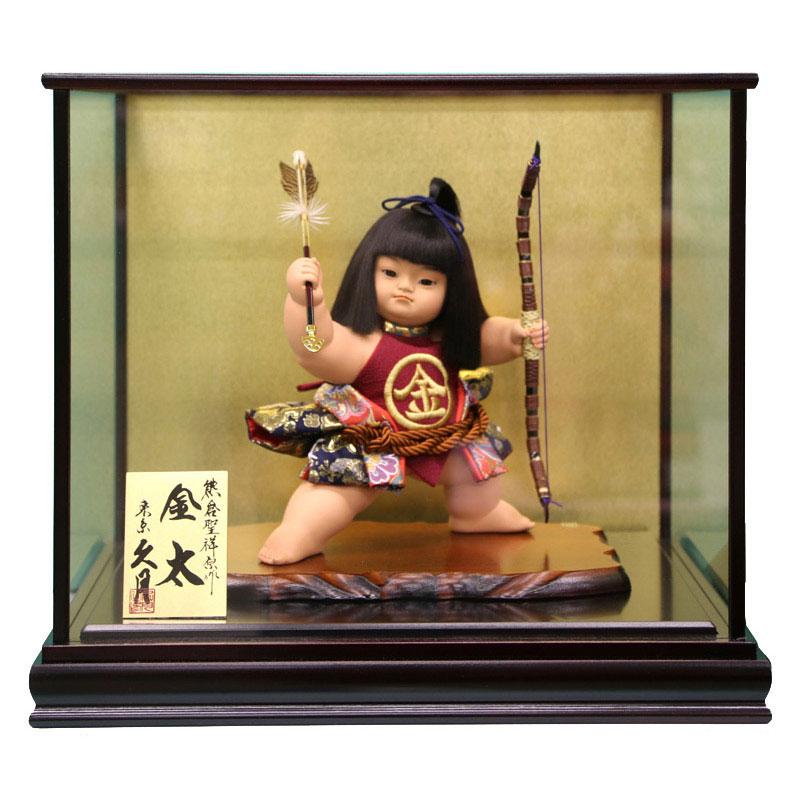 ケース飾り 浮世人形熊倉聖祥原作 裸金太 矢の根 10号