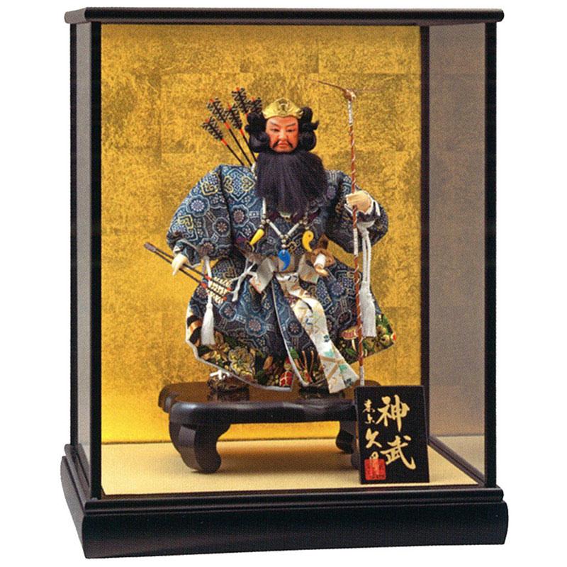ケース飾り 武者人形三五神武ケース入