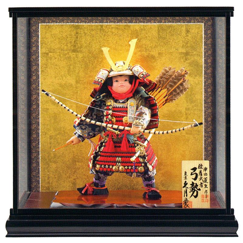 ケース飾り 武者人形津田蓬生作 特製鎧着武者