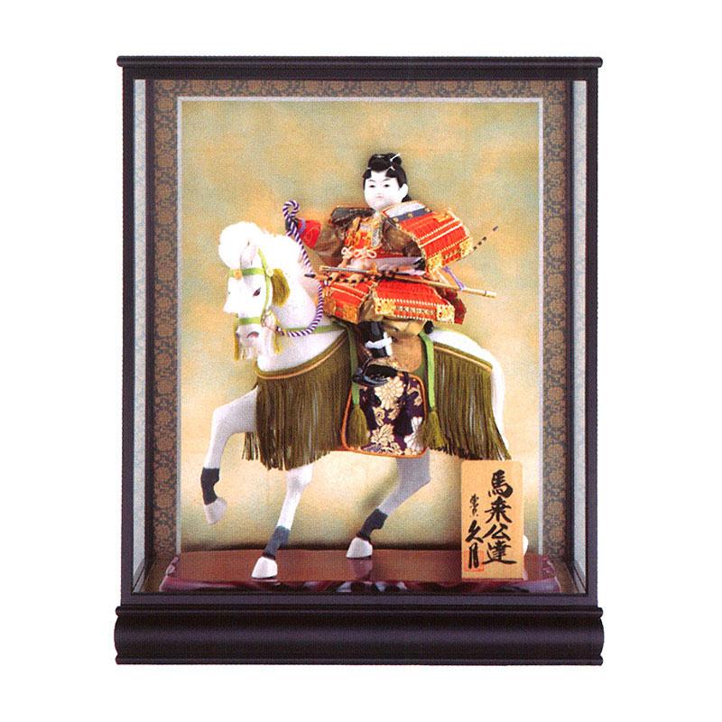 ケース飾り 武者人形馬乗公達 8号 桂印8