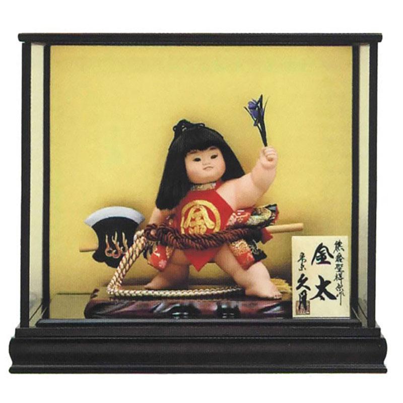 ケース飾り 浮世人形熊倉聖祥原作 裸金太 鉞(着付) 8号
