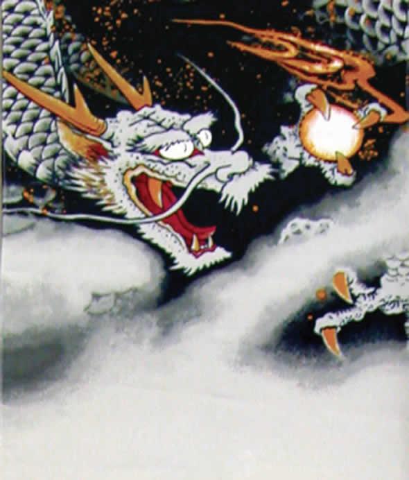 龍虎之図 飾台セット(大) 家紋または名前入れ 代金込み