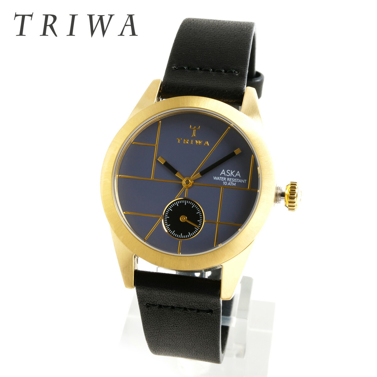 TRIWA トリワ AKST105-SS010113 Blues Aska BLACK CLASSIC SUPER SLIM ブルースアスカ ブラック スーパースリム あす楽 即納 女性用 腕時計 レディース レディス ウォッチ レザーベルト アナログ