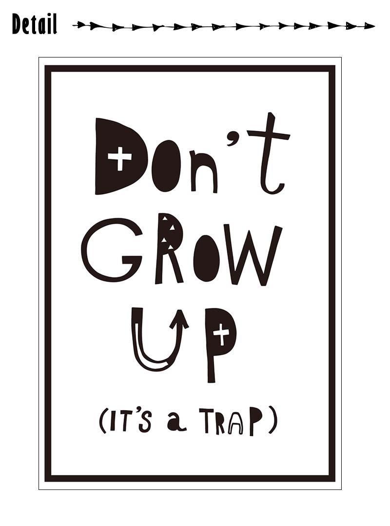 楽天市場 ウォールステッカー 受注生産 Don T Grow Up It S A Trap