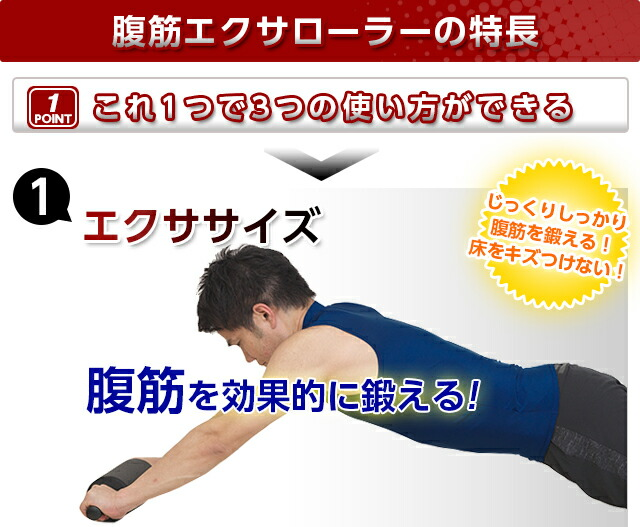 腹筋エクサローラー エクササイズ例