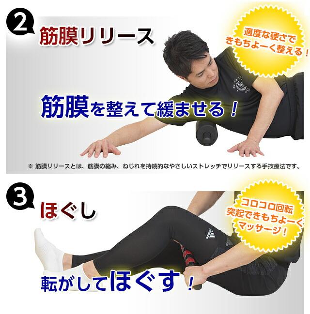 腹筋エクサローラー 筋膜リリース例 ほぐし例