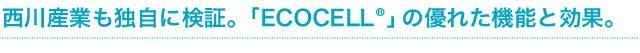 西川産業も独自に検証。「ECOCELL 」の優れた機能と効果。