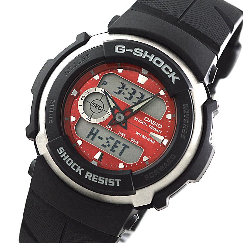 カシオ Gショック STANDARD G-SPIKE Gスパイク レッド×ブラック G-300-4AJF  メンズ