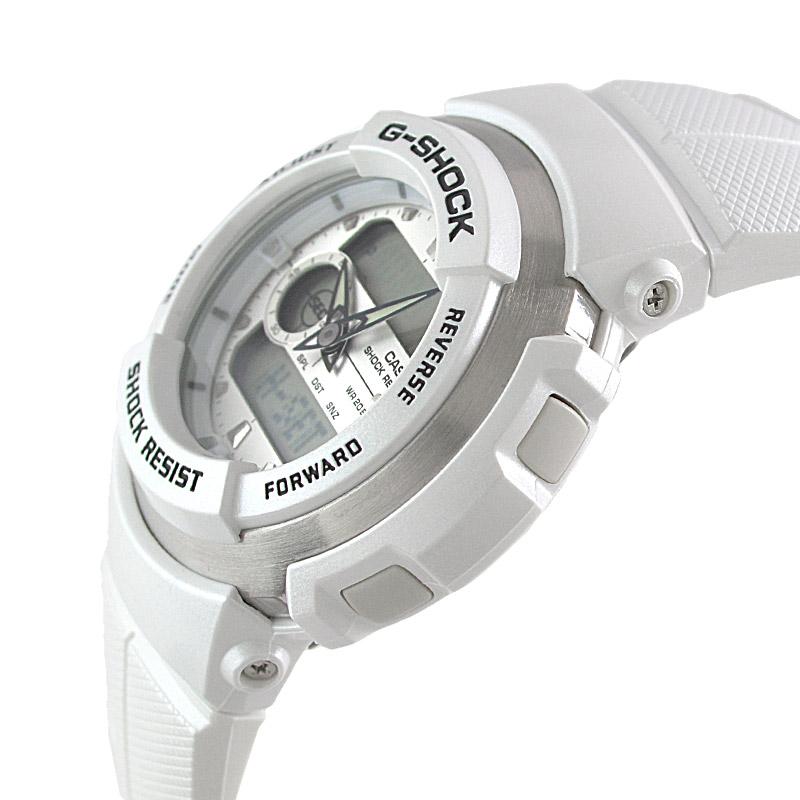 カシオ Gショック STANDARD G-SPIKE ホワイト×ホワイト G-300LV-7AJF メンズ
