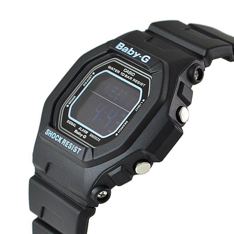 カシオ ベビーG ブラック×ブルー BG-5600BK-1JF レディース