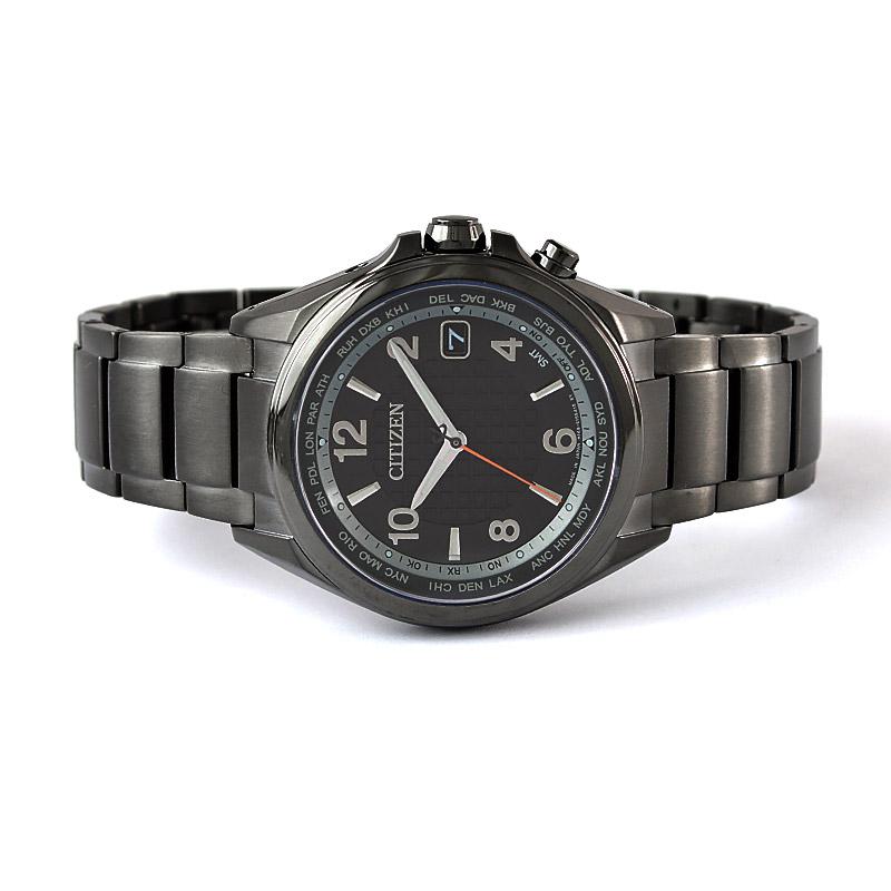 シチズン アテッサ エコドライブ 電波時計 ブラック・チタニウム ダイレクトフライト30周年 限定モデル 限定1500本 CB1075-52E メンズ