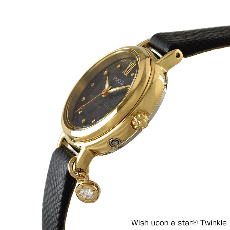 シチズン ウィッカ wicca × Wish upon a star Twinkle コラボ 限定モデル ソーラーテック 電波時計 KL0-529-50 レディース