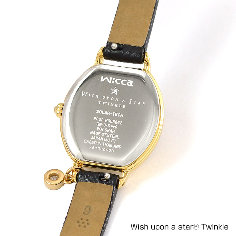 シチズン ウィッカ wicca × Wish upon a star Twinkle コラボ 限定モデル ソーラーテック 電波時計 KP2-523-12 レディース