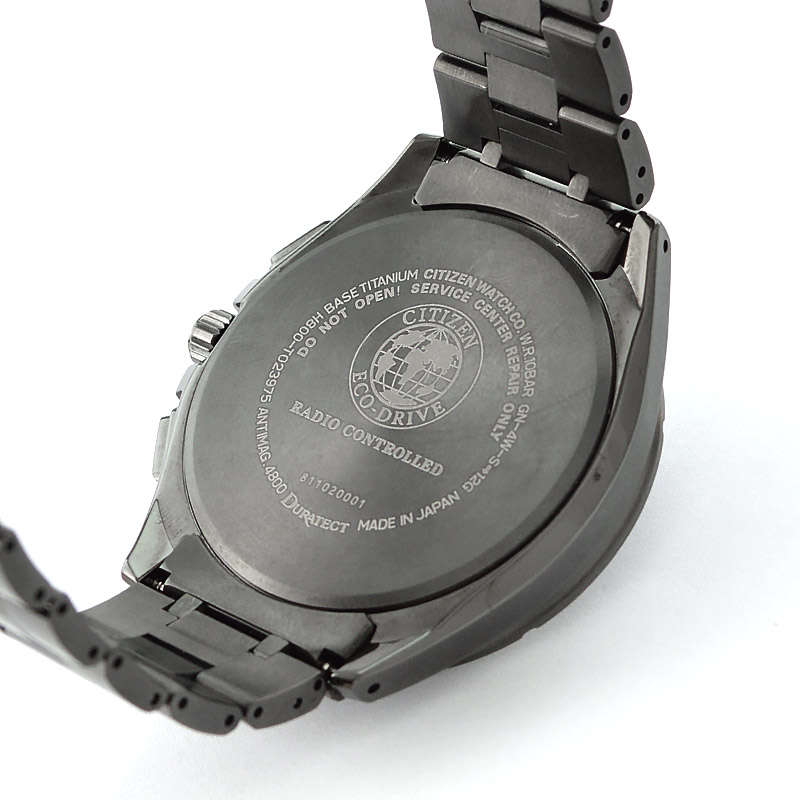 シチズン アテッサ ブラックチタン エコドライブ ソーラー電波 電波 ソーラー チタン AT8166-59E メンズ