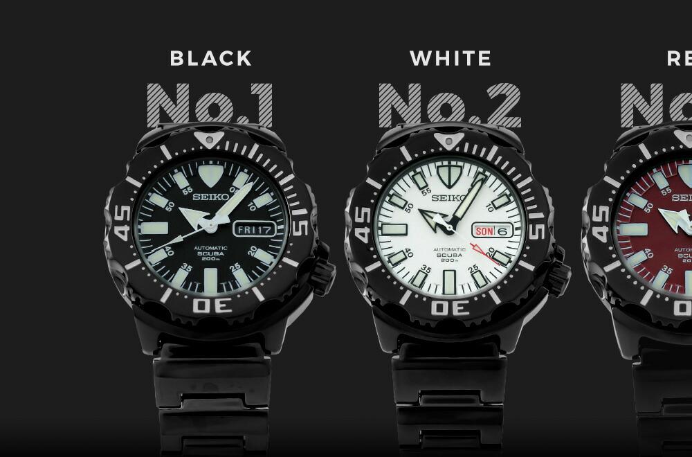 機械式 腕時計 SZEN 腕時計本舗限定モデル セイコー 200m防水 ダイバーズウォッチ (自動巻き) 海外正規 全5色 モンスター メンズ SEIKO ダイバーズ 【楽天ランキング1位獲得】 逆輸入 時計