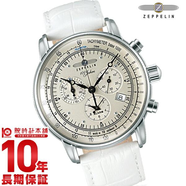 ツェッペリン 【250本限定モデル】 ZEPPELIN号100周年記念モデル アイボリー クロノグラフ 76801-WH メンズ