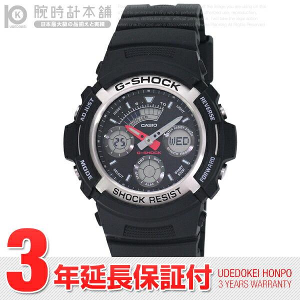 カシオ Gショック アナデジモデル ワールドタイム AW-590-1A メンズ