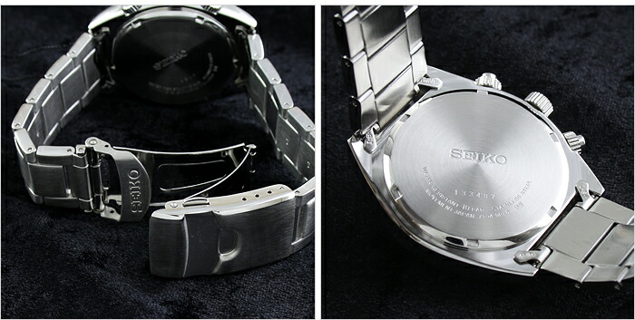 セイコー 逆輸入モデル クロノグラフ  100m防水 SNN235P1 メンズ