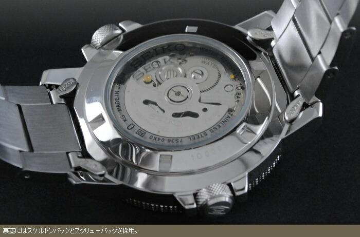 セイコー5 逆輸入モデル 100m防水 機械式(自動巻き) SNZJ65J1 メンズ