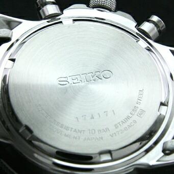 セイコー 逆輸入モデル クロノグラフ  ソーラー機能付 100m防水 SSC009P1 メンズ