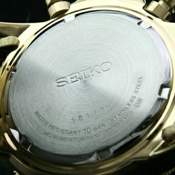 セイコー 逆輸入モデル クロノグラフ  ソーラー機能付 100m防水 SSC008P2 メンズ