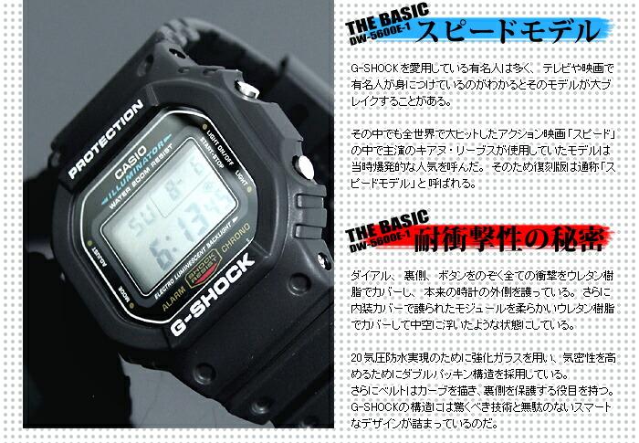 カシオ Gショック スピードモデル DW-5600E-1V メンズ