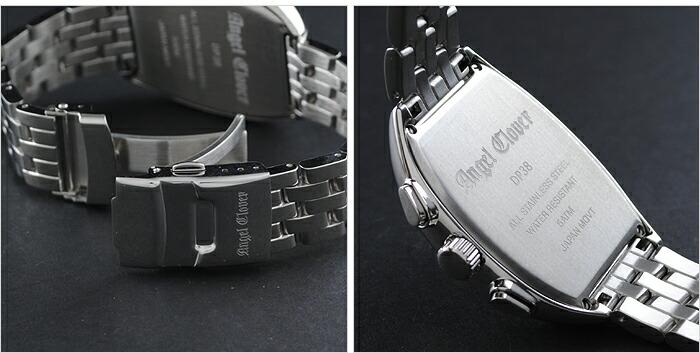 エンジェルクローバー ダブルプレイ ブラック/シルバー デイト クロノグラフ DP38SBK メンズ
