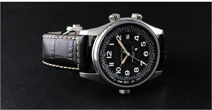 ハミルトン カーキ GMT H77505535 メンズ