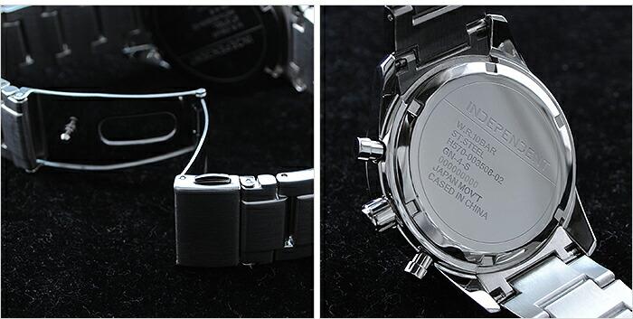 インディペンデント クロノグラフ ソーラー KL6-012-51 メンズ