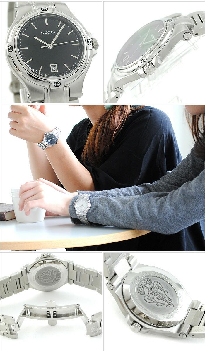 グッチ 9045シリーズ YA090304MSS-BLK ユニセックス