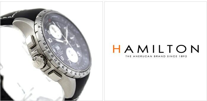 ハミルトン カーキ アビエイションX-ウィンド ミリタリー クロノグラフ H77616333 メンズ