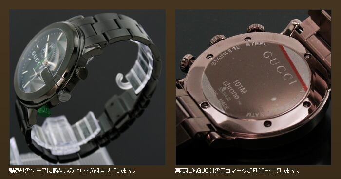 グッチ 101シリーズ M Gフェイス クロノグラフ YA101331 メンズ