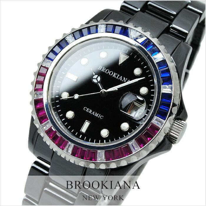ブルッキアーナ ブラック セラミック BA1666-BK4 メンズ