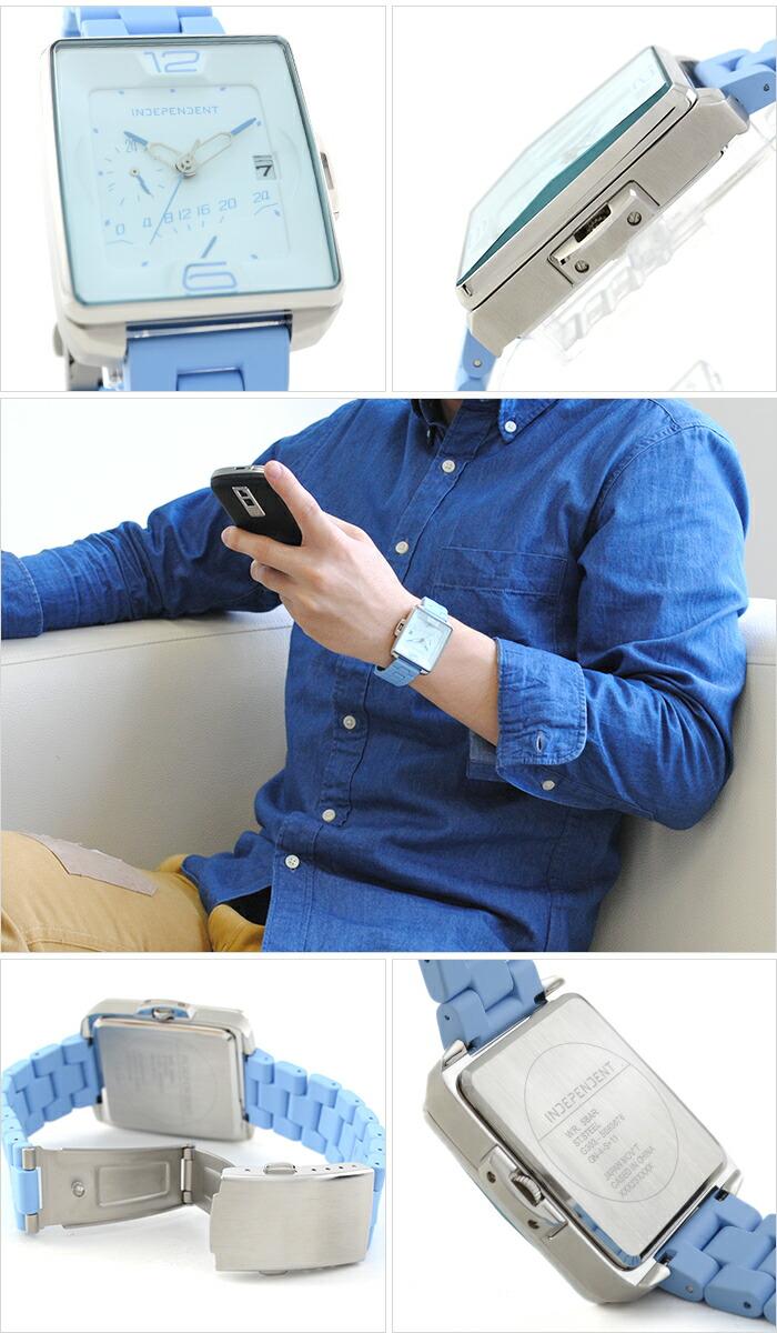 インディペンデント Innovative Line Swing レトログラード24時間計付 ステンレス×シリコンラバーコーティングバンドモデル BQ5-013-11 メンズ