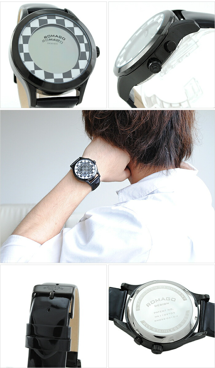 ロマゴデザイン FASHIONCODE ファッションコード RM052-0314ST-BKWH ユニセックス