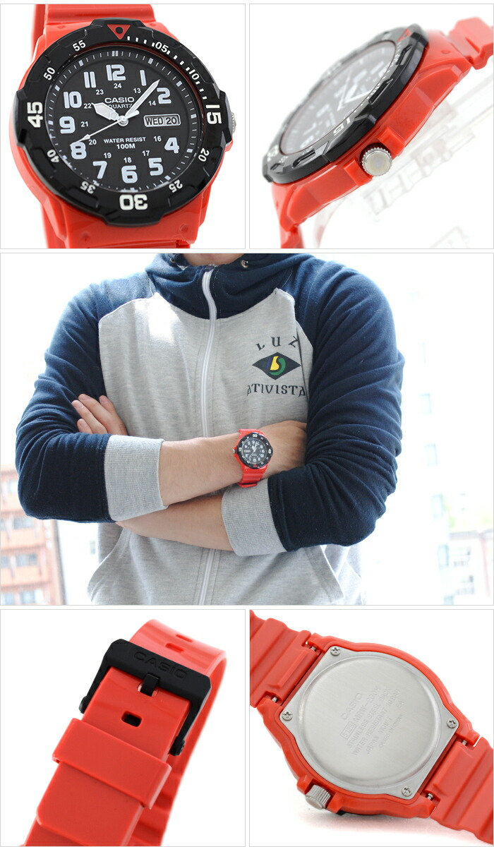 6a4ee4adf23e Casio buceo RED BLACK expedition reloj watch timex sport diving ...