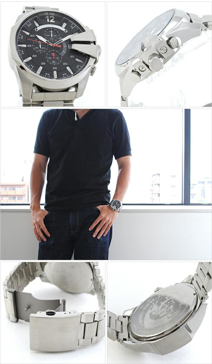 ディーゼル メガチーフ クロノグラフ DZ4308 メンズ