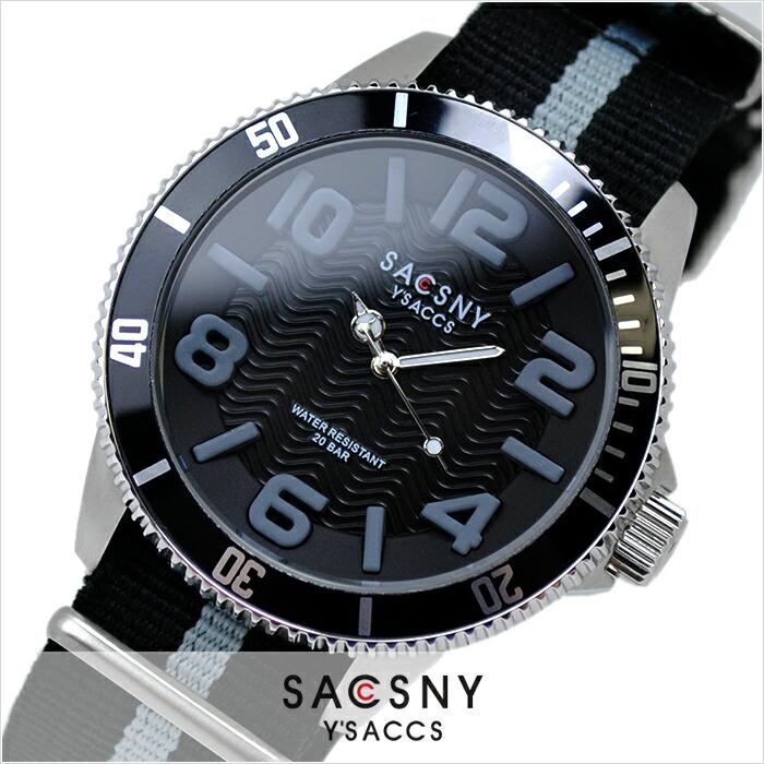 サクスニーイザック  SYA-15105-BKGY メンズ