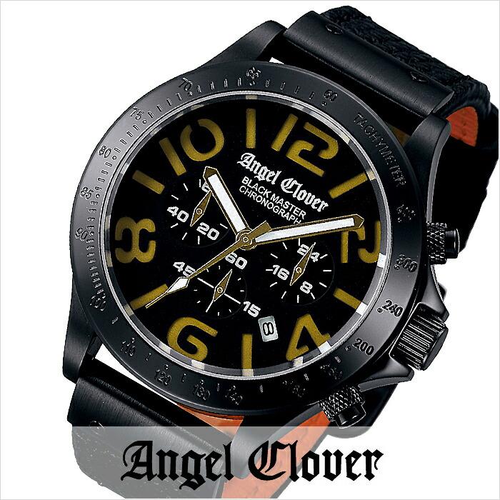 エンジェルクローバー ブラックマスターミリタリー ブラック ステンレス クロノグラフ デイト BM46BGD-BK メンズ